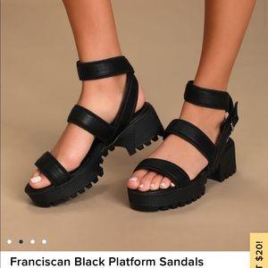COPY - Franciscan platform sandals